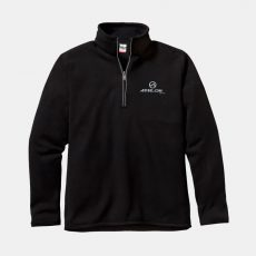 Athlon-Logo-Quarter-Zip-Fleece-Black